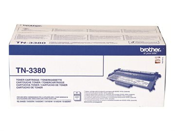 Brother TN-3380 Sort Blækpatron, 2 x 8.000 sider