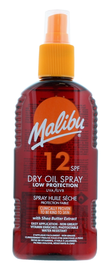 Malibu 200ml SPF 12 Dry Oil Spray