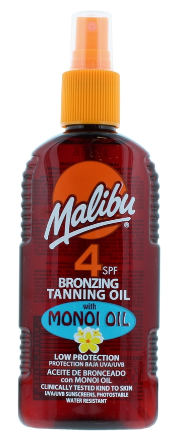 Malibu 200ml SPF 4 Bronzing Tanning Oil With Monoi Oil