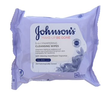 Johnsons Make Up Be Gone Face Wipes Pampering 25'S