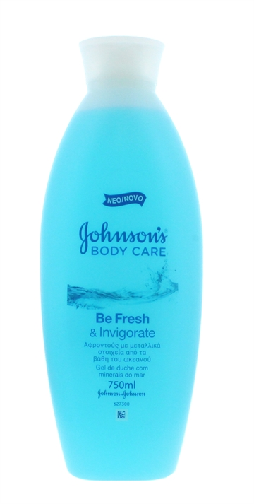 JOHNSON'S FRESH & INVIGORATE SHOWER GEL 750ML