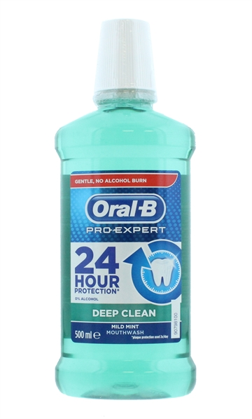 Oral B 500ml Mouthwash Deep Mild Mint