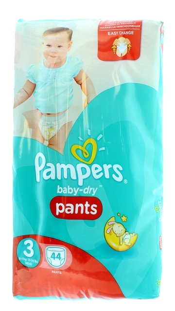 Pampers Baby Dry Nappy Pants Size 3 44'