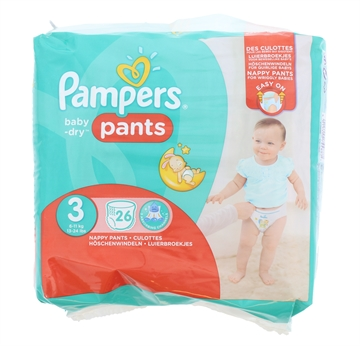 Pampers Baby Dry Nappy Pants Size 3 26'