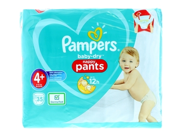 Pampers Baby Dry Nappy Pants Size 4+ 35'