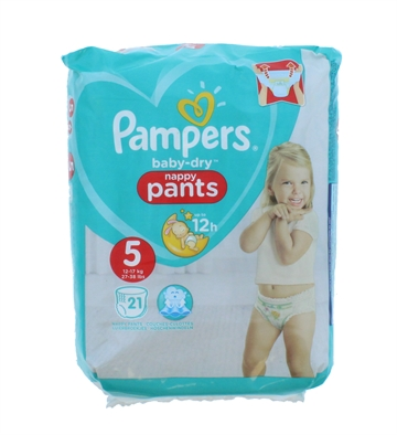 Pampers Baby Dry Nappy Pants Size 5 21'