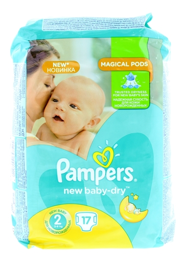 Pampers New Baby Dry Nappies Size 2 17'