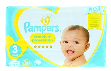 Pampers Premium Protection Nappies Size 3 35'