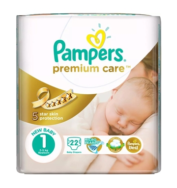 Pampers Prem Protect New Baby 22'