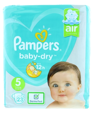 Pampers Baby Dry Nappy Pants Size 5 23'