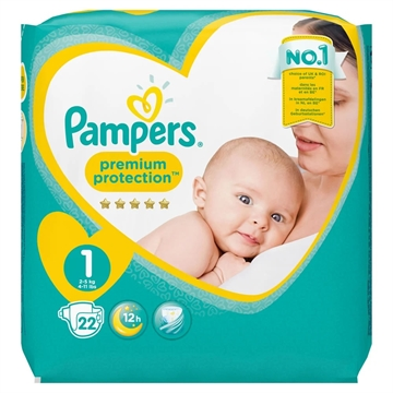 Pampers New Baby Nappies Size 1 22'