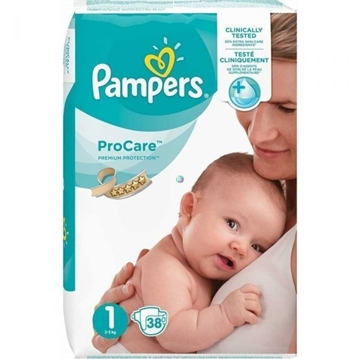 Pampers Procare Premium Protection Nappies Size 1 38'