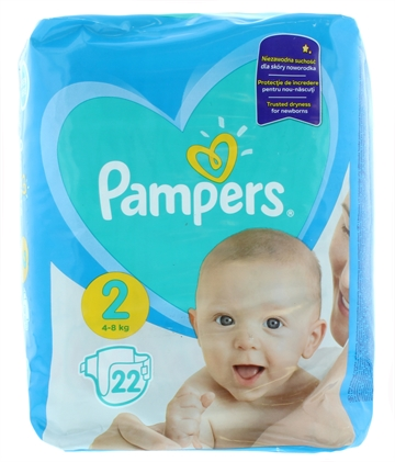 Pampers New Baby Nappies Size 2 22'