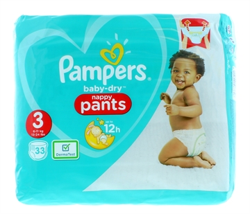 Pampers Baby Dry Pants Size 3 33'