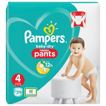 Pampers Baby Dry Nappy Pants Size 4 29'