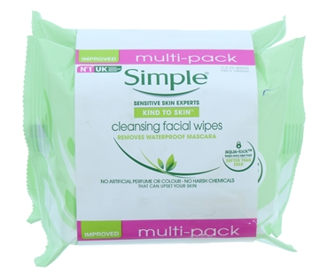 Simple Facial Cleansing Wipes 2 Pack