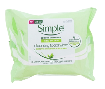 Simple Facial Cleansing Wipes 25'S