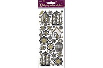 Upikit Stickers Glitter Outline Fulgebure 10x23