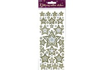 Upikit Stickers Glitter Outline Stjerner 10x23