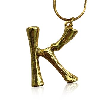 Everneed Bamboo Letters K - Guld