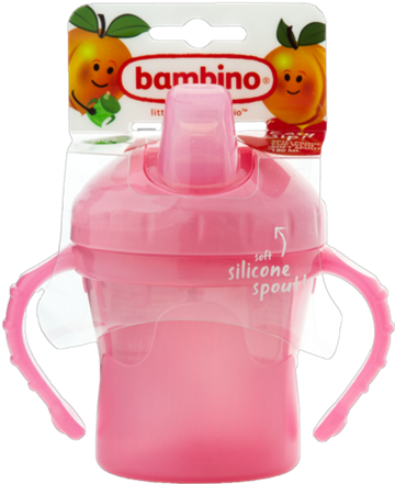 Bambino drikkekop med sut Easy sip pink