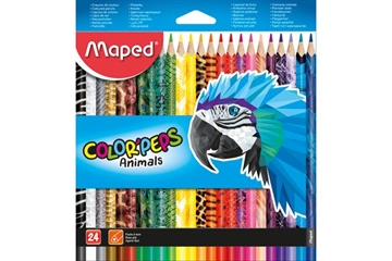 Magni Maped Color' Peps, Animals, 24 stk.