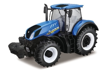 Burago Tractor 1:32 New Holland T7.315 Blue