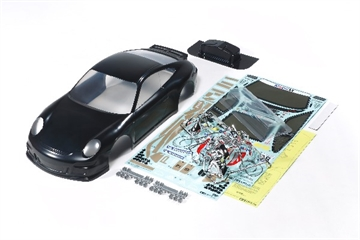 1/10 Porsche 911 GT3 Body Parts Set, Black Painted