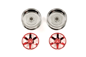 2pc 6spk Red Whl 26mm Off+4