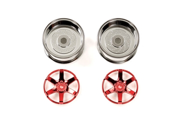 2pc 6spk Red Whl 26mm Off+6
