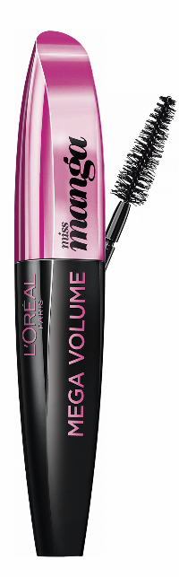 L'Oreal Paris Make-Up Designer Mega Volume Miss Manga - Black - Mascara mascara til øjenvipper