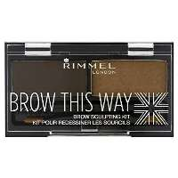 Rimmel Brow This Way Eyebrow Sculpting Kit Øjenskygge Brun
